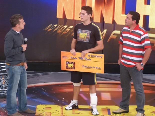 Hector Ferronato levou R$30 mil no Agora ou Nunca para custear estudos nos EUA  (Foto: Caldeirão do Huck/TV Globo)