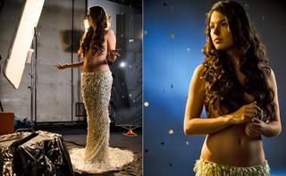 Isis Valverde antecipa o clima sensual e elegante da microssérie (Foto: Raphael Dias/Rede Globo)
