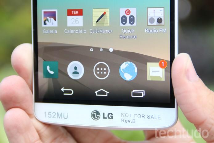 O LG G3 conta com um processador Snapdragon 801, da Qualcomm (Foto: Lucas Mendes/TechTudo)