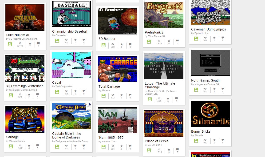 Jogue mais de 2400 games de MS-DOS de graça