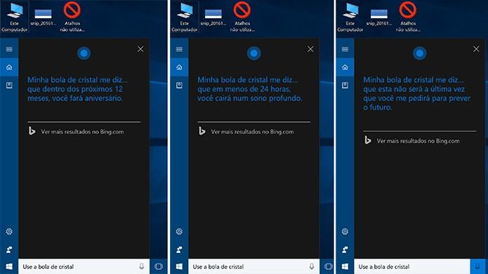 Cortana ganhou uma bola de cristal para adivinhar o futuro do usuário (Foto: Reprodução/Elson de Souza)