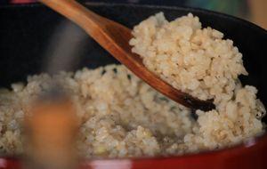 Prato termogênico: arroz integral cateto com gengibre e gersal picante
