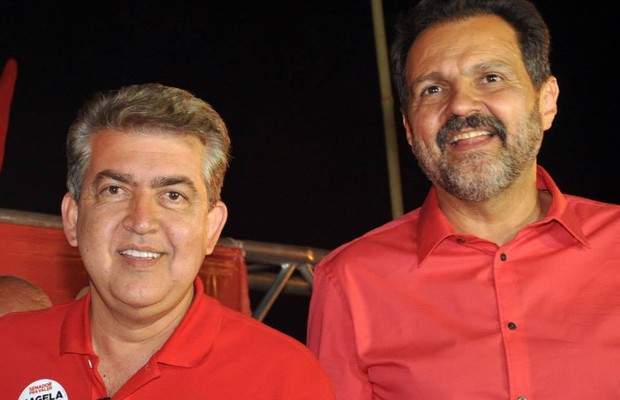 Rafael Barbosa e Agnelo Queiroz (Foto: reprodução/facebook)