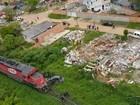 Helicóptero da PRF socorre vítima de acidente entre carro e trem no Paraná