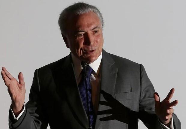 Presidente Michel Temer discursa em evento em Brasília  (Foto: Adriano Machado/Reuters)