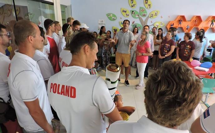 Nadadores poloneses (Foto: Divulgação/Avosos)