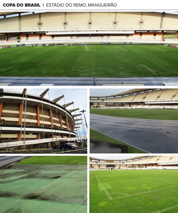 MOSAICO Estádio mangueirão remo (Foto: Richard Souza)