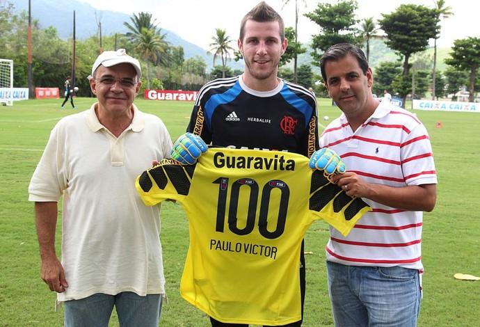 Paulo Victor 100 jogos pelo Flamengo (Foto: Gilvan de Souza / Flamengo)