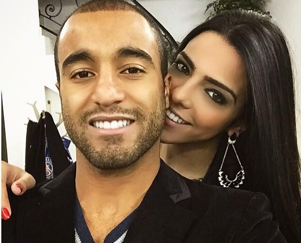 Lucas Moura e Larissa Saad não se desgrudam (Foto: Arquivo Pessoal)