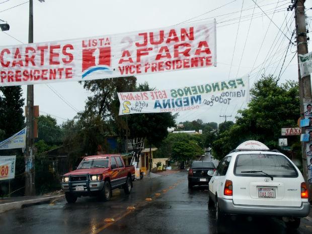 Há uma semana das eleições, campanha rua no Paraguai ainda é tímida  (Foto: Fabiula Wurmeister/G1)