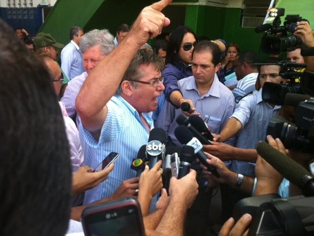 Empresários denunciou sindicato dos rodoviários em Manaus (Foto: Ana Graziela Maia/G1 AM)