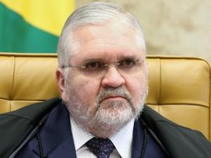 O procurador-geral da República, Roberto Gurgel, durante sustentação oral de advogados no julgamento do mensalão (Foto: Nelson Jr./SCO/STF)