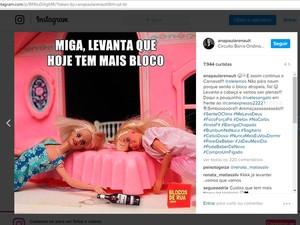 A ex-BBB postou mais cedo que estaria no Camarote 2222, em Salvador (Foto: Reprodução/Instagram)
