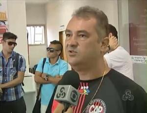 Presidente Cláudio Rocha comenta que mais reforços deverão chegar ao CAP (Foto: Reprodução)