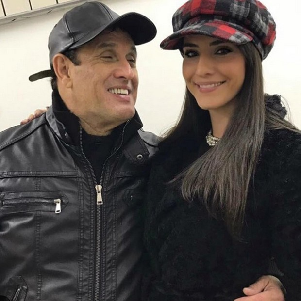 Sérgio Mallandro e a namorada, Fernanda Vianna (Foto: Reprodução / Instagram)