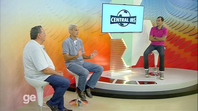 Central MS, Hélder Rafael, Leomar Ferreira e Marcos Silvestre (Foto: Divulgação/TV Morena)