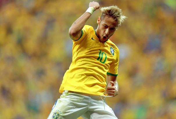 O craque Neymar, artilheiro do mundial com 4 gols, é a esperança de gols do Brasil (Foto: Jefferson Bernardes / VIPCOMM / reprodução Globoesporte.com)