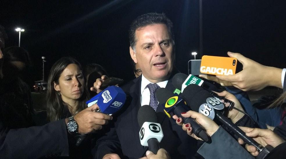 O governador de Goiás, Marconi Perillo (PSDB), nesta terça (13), após reunião com o presidente Michel Temer em Brasília (Foto: Gustavo Aguiar/G1)