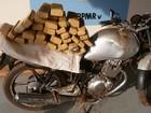 Suspeito fura bloqueio e abandona motocicleta com drogas em MS