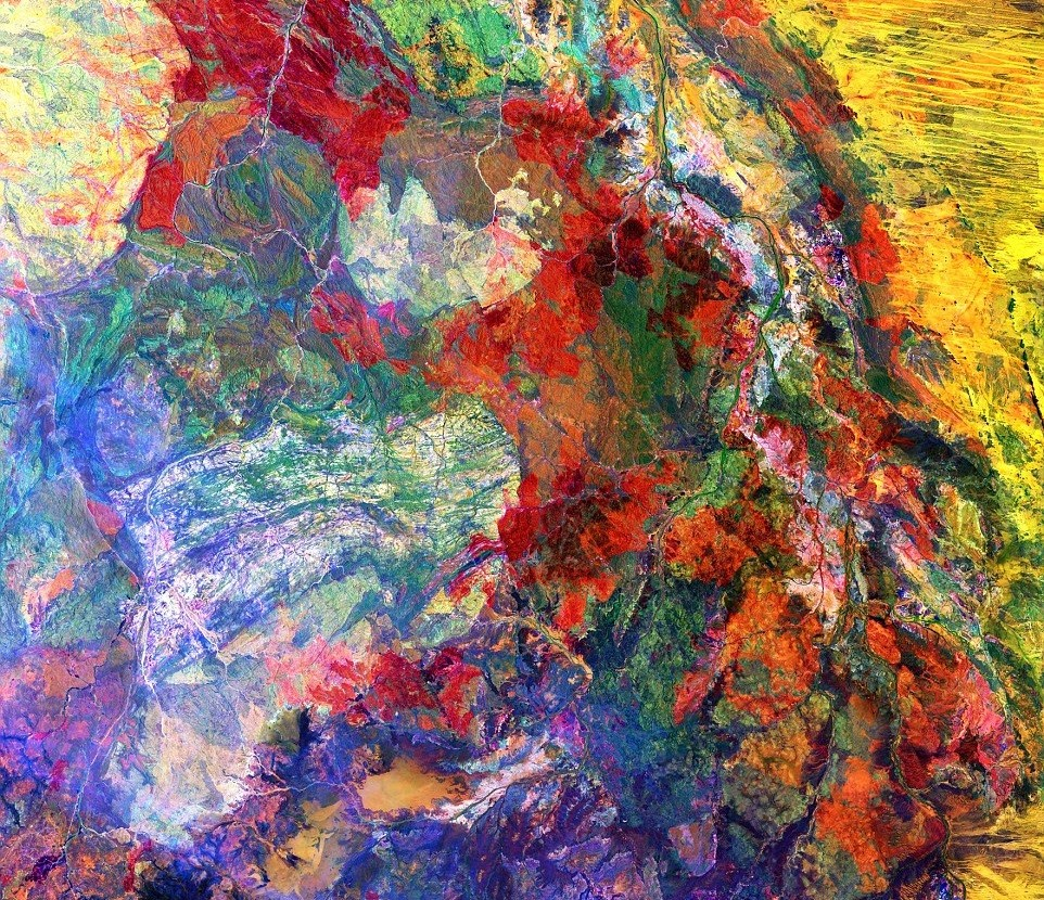 O Grande Deserto Arenoso, Australia (Foto: USGS / NASA)