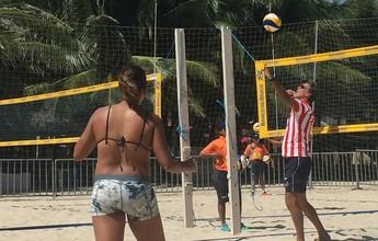Sem praia e circuito, técnico se inspira no irmão e desbrava o vôlei paraguaio