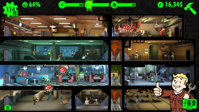 Fallout Shelter diverte pela quantidade de referências a Fallout 4 (Foto: Divulgação / Bethesda)