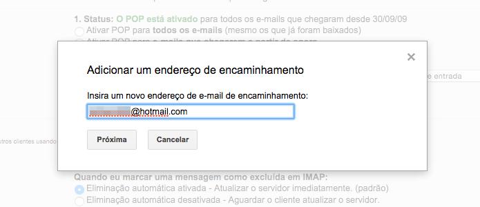 Digite o seu endereço de e-mail do Outlook (Foto: Reprodução/Helito Bijora)