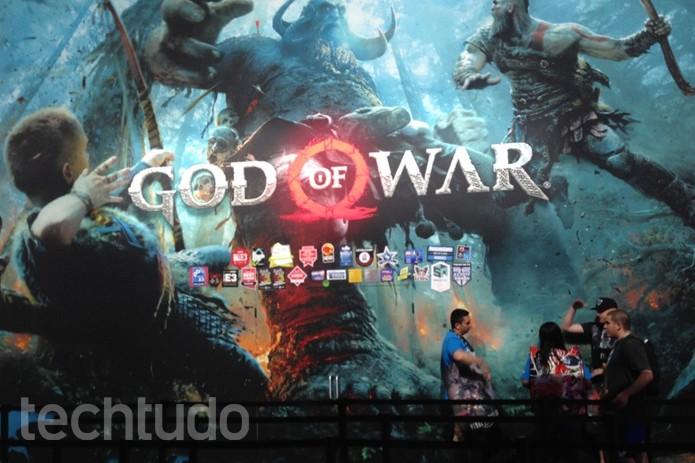 """Novo God of War aposta em realismo e Kratos mais """"humano"""" (Foto: Felipe Vinha/TechTudo)"""