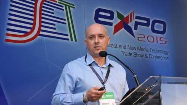Painel sobre Switch-off teve apresentação de Marco Martins, gerente de Telecom, da Engenharia da RPC. (Foto: Divulgação/RPC)