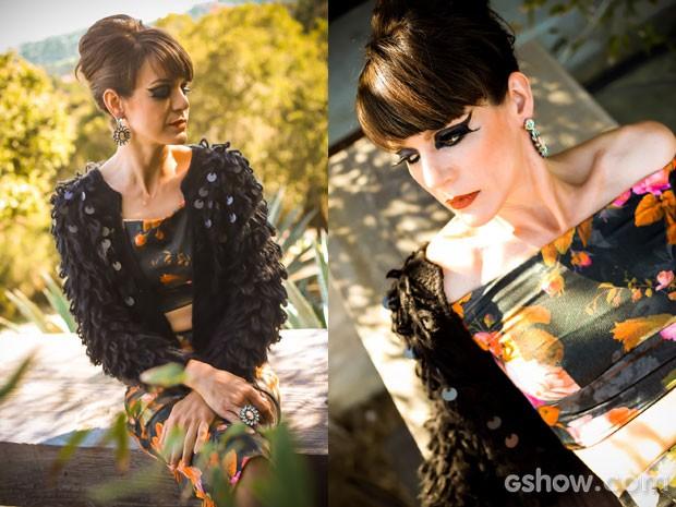 Momento atriz para a nossa stylist! (Foto: Aline Kras/TV Globo)