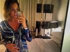 Luma Costa exibe barriguinha de gravidez em foto de 'look do dia'