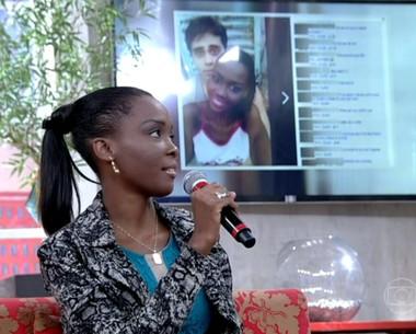 'Não queria sair de casa', diz jovem que sofreu racismo (Encontro com Fátima Bernardes/TV Globo)