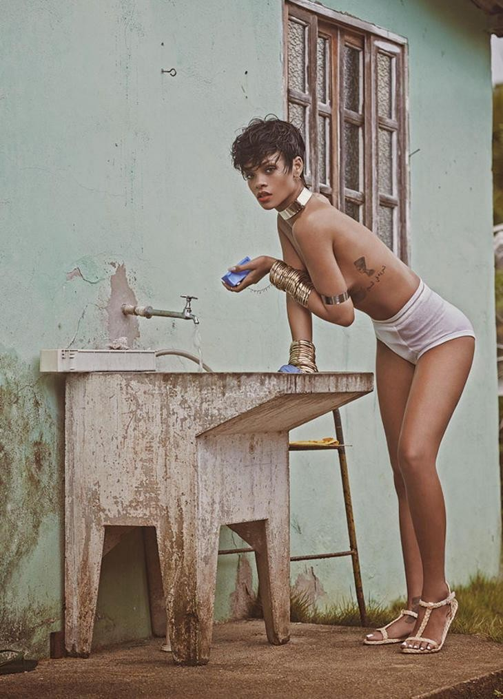Rihanna para Vogue Brasil (Foto: Mariano Vivanco)