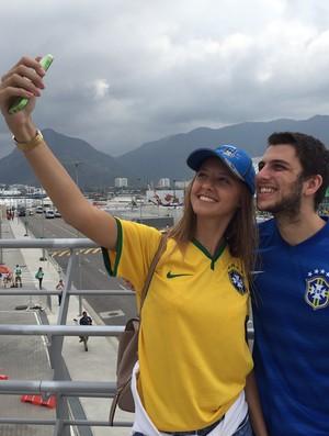 Selfie Parque Olímpico (Foto: Márcio Mará)