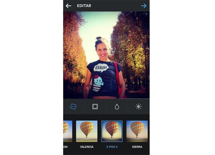 O X-Pro II satura os tons de azul e verde no Instagram (Foto: Reprodução/Taysa Coelho)