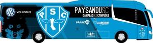 Layout que será usado no novo ônibus do Papão (Foto: Reprodução/site oficial do Paysandu)