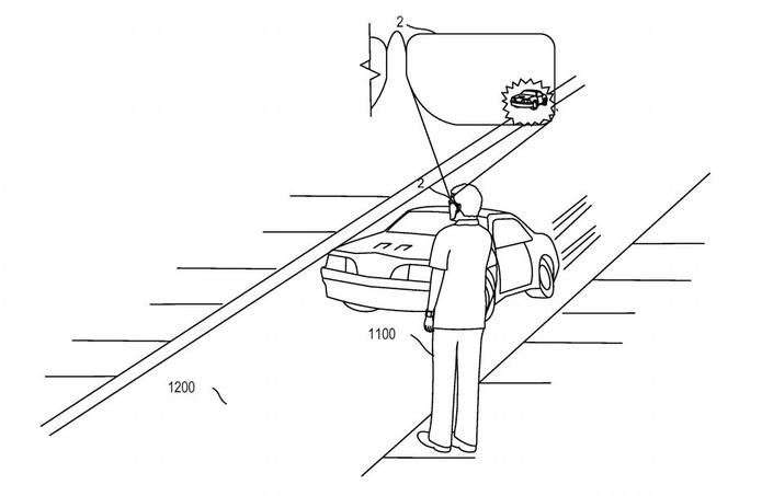 Óculos da Microsoft poderia analisar a direção e movimento de um carro e evitar acidentes (Foto: Divulgação/Patentscope)