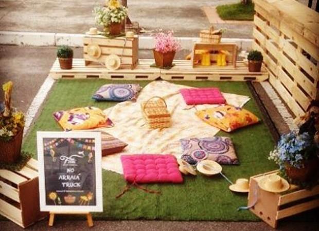 Espaço destinado para pais e filhos descansarem e comerem juntos (Foto: Divulgação)