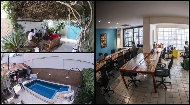 Espaço Tempo, em Botafogo, tem até piscina e pode ser usado 24 horas por dia e até em feriado   (Foto: Divulgação)