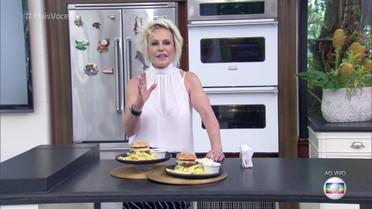 Ana Maria Braga inicia o concurso 'O Melhor Hambúrguer do Brasil'