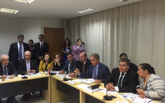 Ministro do Meio Ambiente, Sarney Filho participa de reunião da Frente Parlamentar da Agropecuária (Foto: Reprodução)