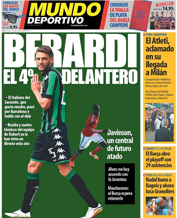 Capa Mundo Deportivo (Foto: Reprodução / Site Oficial)