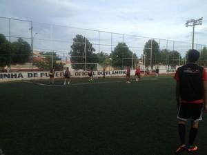 O time da escolinha vai se chamar Flapalmas (Foto: Camila Rodrigues/GloboEsporte.com)