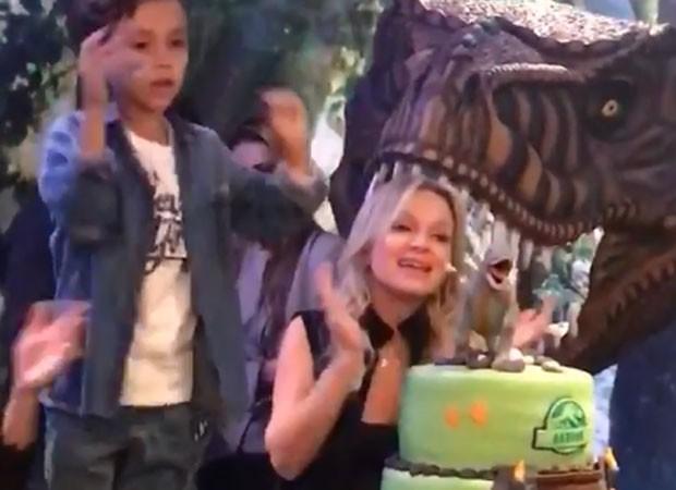 Eliana curte festa de aniversário do filho em repouso; confira o vídeo