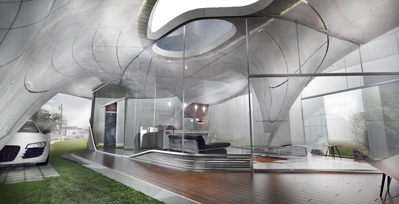 Detalhes do interior da 'curve appeal', projeto vencedor de concurso (Foto: Divulgação)