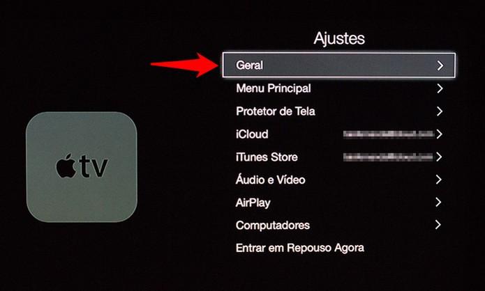 Navegando pelas configurações da Apple TV (Foto: Reprodução/Alessandro Junior)