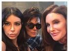 Kim Kardashian posta selfies com Kris Jenner, Caitlyn e com as irmãs