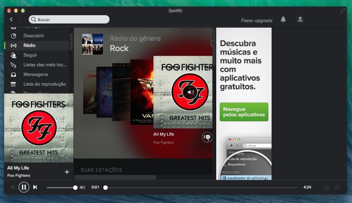 Problema afeta versão gratuita do Spotify (Foto: Divulgação/Spotify)