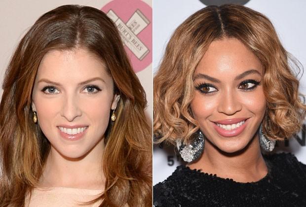 O rosto diamante, como de Anna Kendrick e Beyoncé, tem a testa e queixo mais estreitos e as bochechas salientes (Foto: Getty Images)