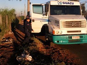 Caminhão roubado é encontrado vazio em Americana (SP) (Foto: Divulgação/ Gama)